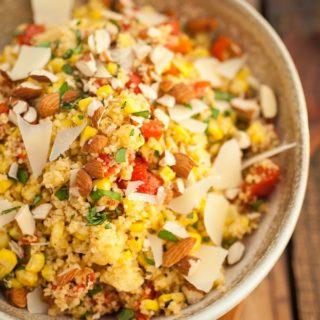 Summertime Couscous Veggie Basil Salad
