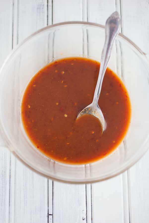 hoisin and chili garlic sauce