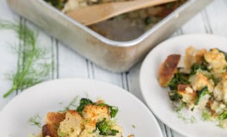 Savory Fennel and Spinach Stuffing