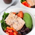 Mediterranean Salmon and Farro Buhhda Bowl