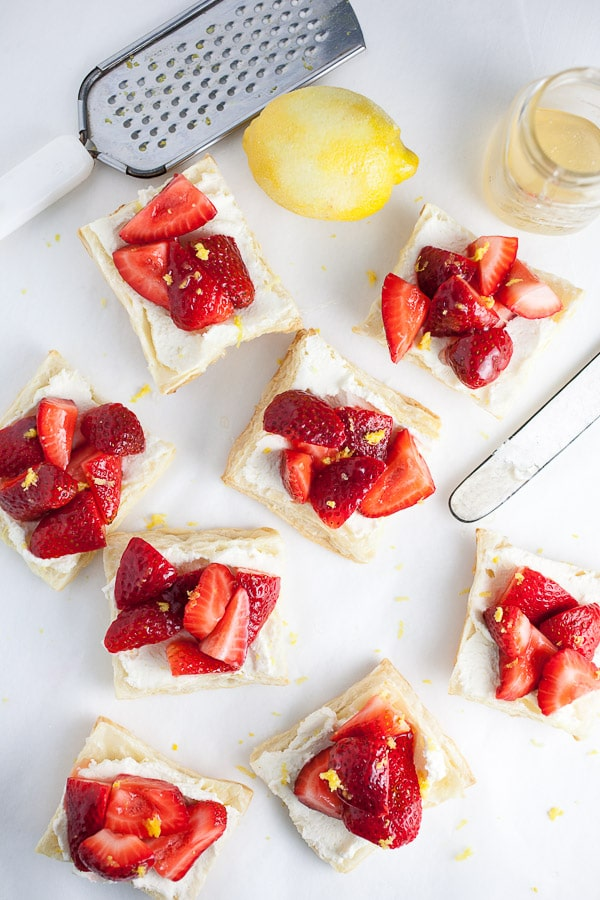 Honeyed Strawberry and Mascarpone Tartlets