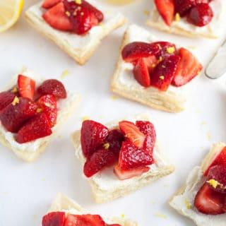 Honeyed Strawberry and Mascarpone Tartlets