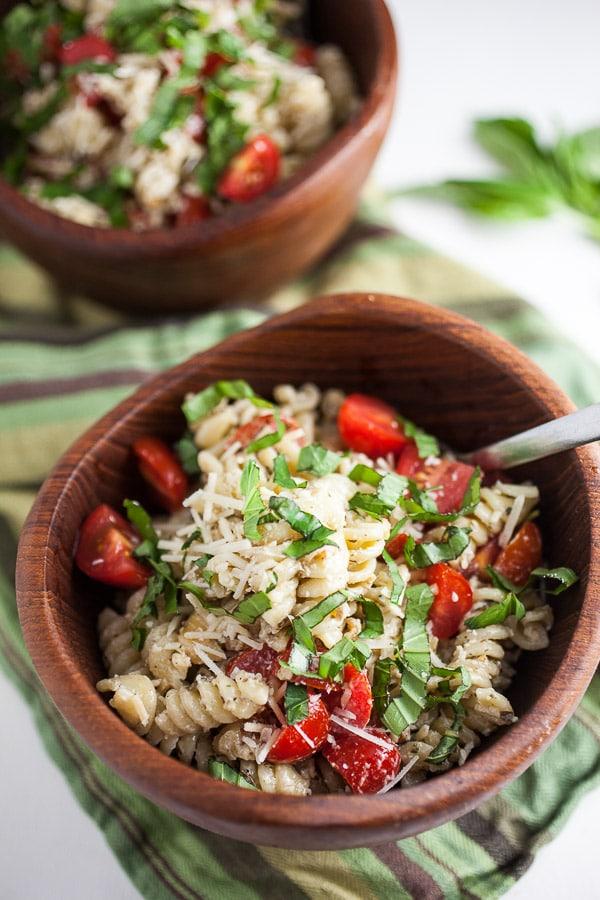 Creamy Pesto Summer Pasta Salad