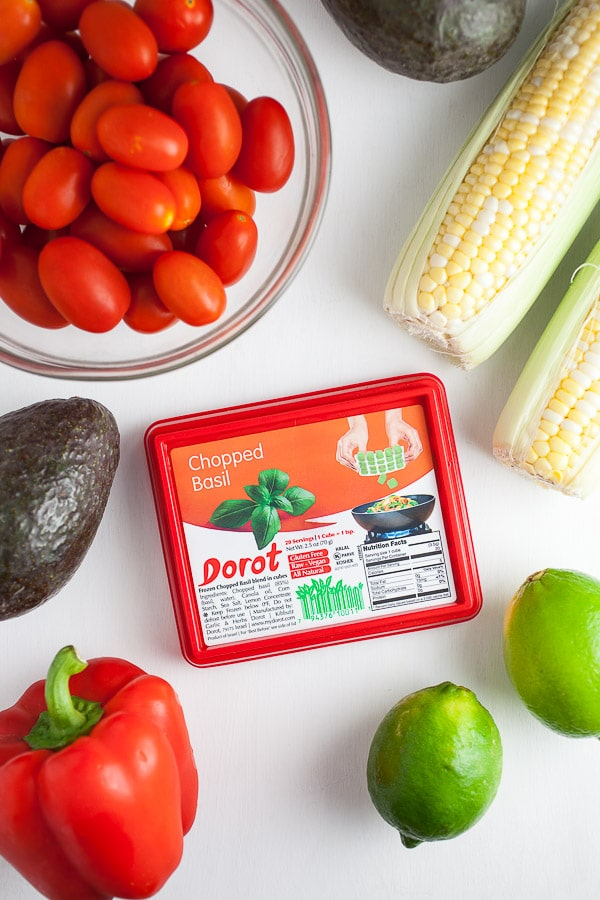 Dorot basil and Italian-style salsa ingredients