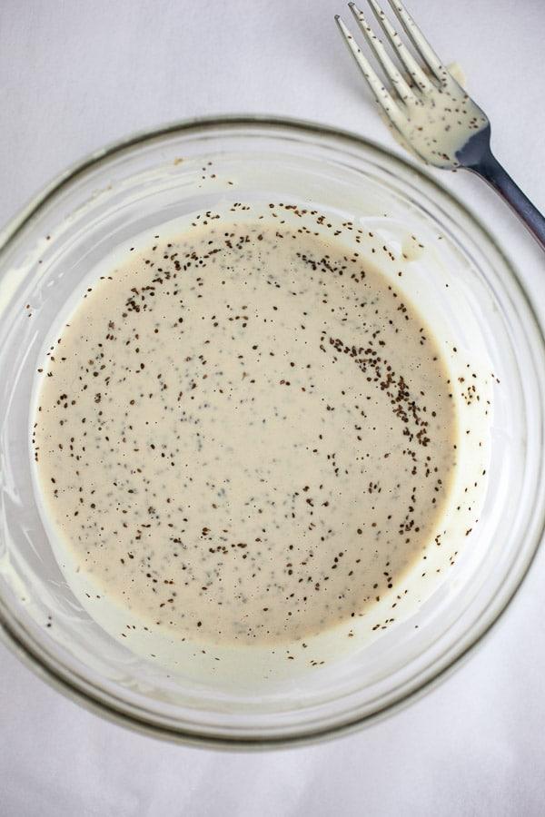 Coleslaw dressing in bowl