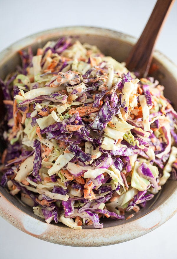 The Best 28 Images Of Light Coleslaw Recipe And