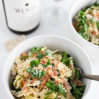 Kale and Pancetta Pasta