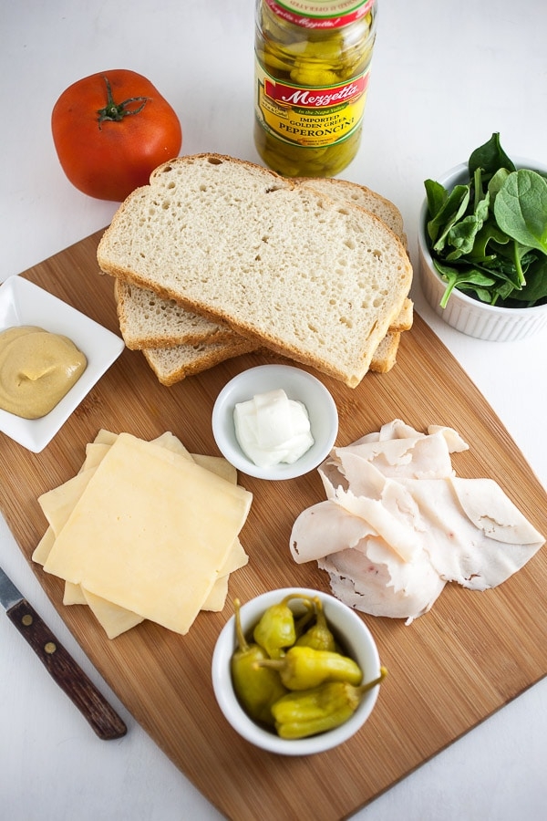 Ingredients for Zesty Dijon Chicken and Gouda Grilled Cheese