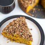 Pumpkin Coffee Cake with Oatmeal Struesel Topping
