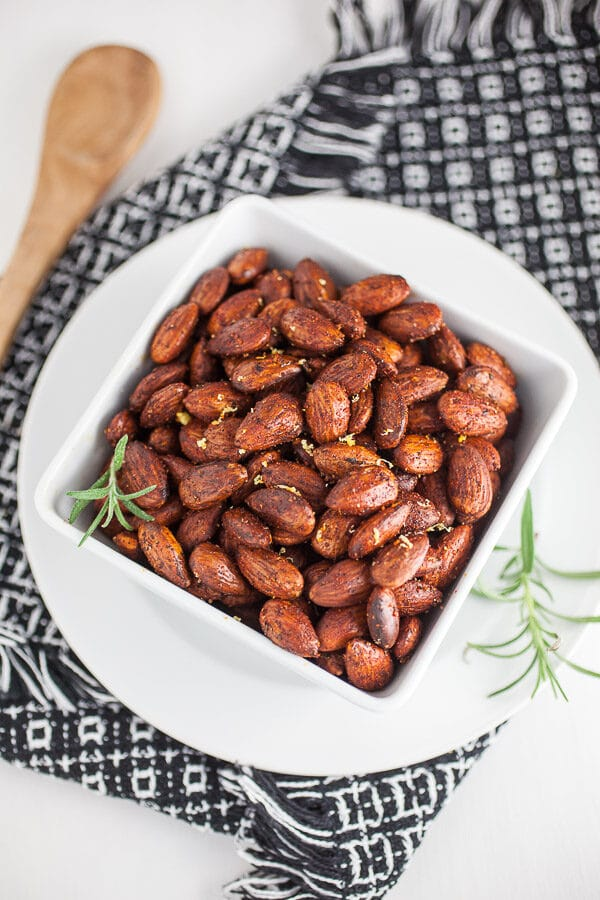 Smoky Rosemary and Lemon Toasted Almonds