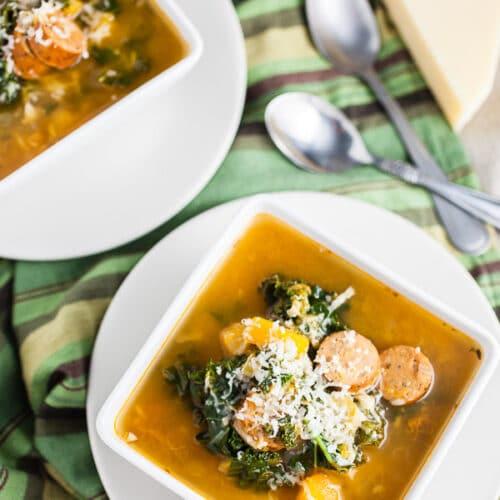 Crockpot Butternut Squash and Sausage Soup |