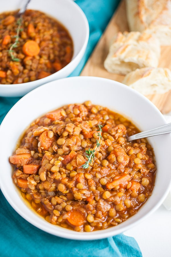 Hearty Lentil Soup The Rustic Foodie