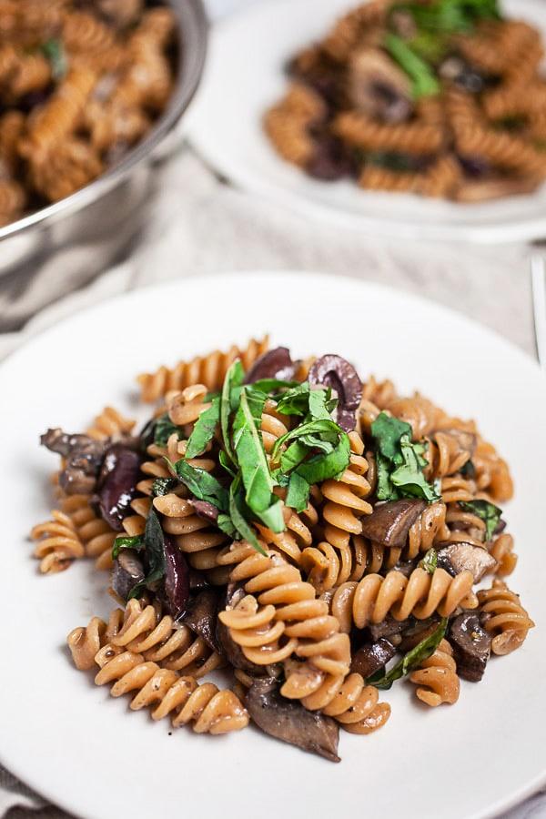 Mushroom and Olive Pasta