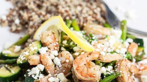 Skillet Shrimp and Spring Vegetables