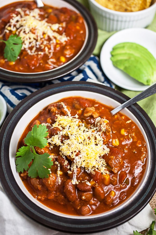 Slow Cooker Turkey Chili | The Rustic Foodie